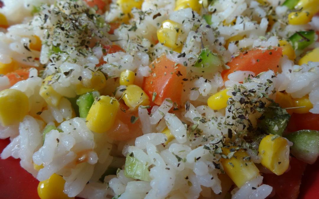 Ensalada tibia de arroz