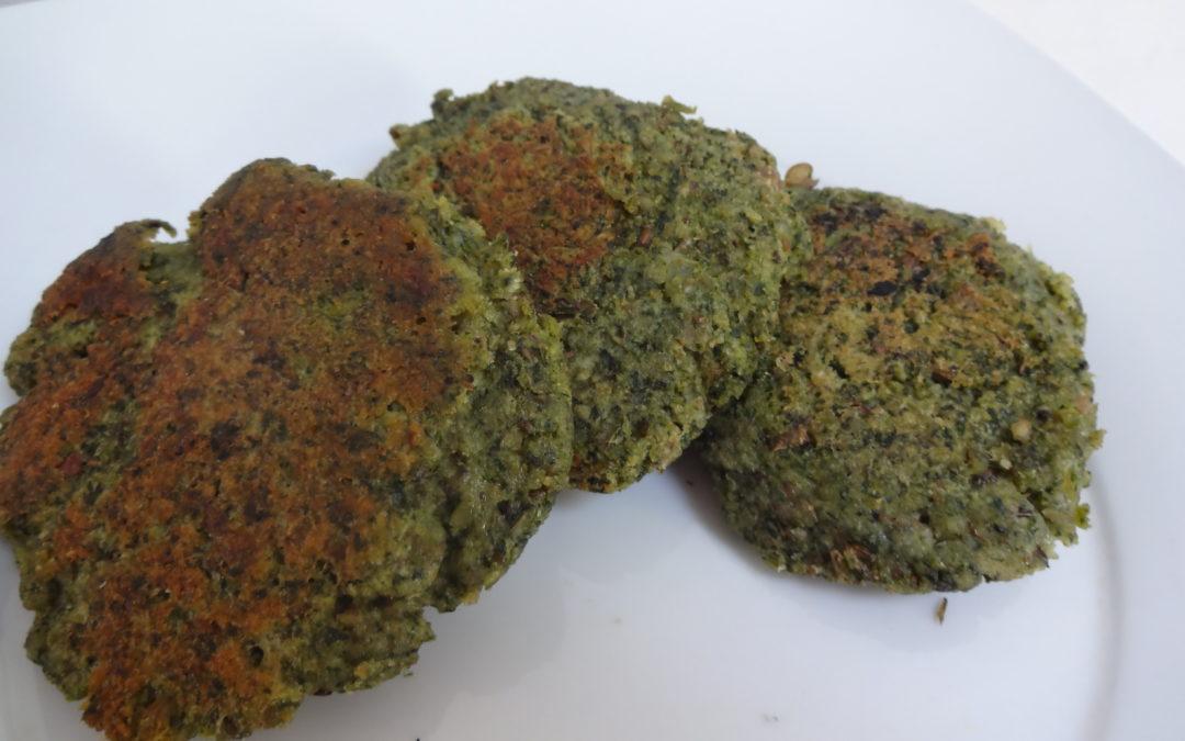 Hamburguesas de acelga y lentejas al horno